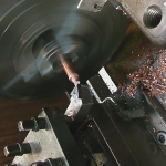 旋盤 真鍮の加工